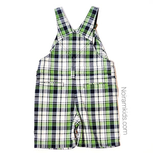 Gymboree Boys Plaid Overall Shorts 2T Used View 3