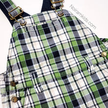 Load image into Gallery viewer, Gymboree Boys Plaid Overall Shorts 2T Used View 2