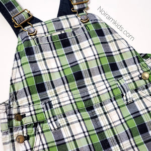 Gymboree Boys Plaid Overall Shorts 2T Used View 2
