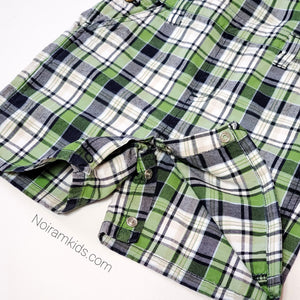 Gymboree Boys Plaid Overall Shorts 2T Used View 4