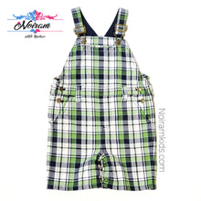 Load image into Gallery viewer, Gymboree Boys Plaid Overall Shorts 2T Used View 1