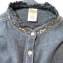 Load image into Gallery viewer, Gymboree Denim Shirt Girls Size 12 Used View 3