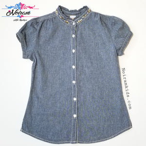 Gymboree Denim Shirt Girls Size 12 Used