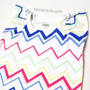 Gymboree Girls Chevron Print Top XS Used View 2