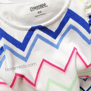 Gymboree Girls Chevron Print Top XS Used View 3