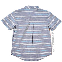 Load image into Gallery viewer, Gymboree Grey Striped Boys Shirt Size 5 Used View 2