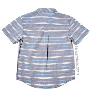 Gymboree Grey Striped Boys Shirt Size 5 Used View 2