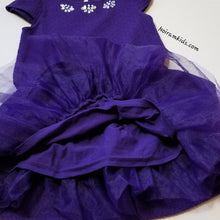 Load image into Gallery viewer, Gymboree Girls Purple Formal Dress Size 7 Skirt Details