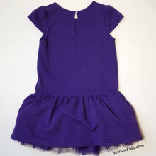 Load image into Gallery viewer, Gymboree Girls Purple Formal Dress Size 7 Back