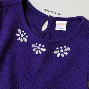 Gymboree Girls Purple Formal Dress Size 7 Used View 5