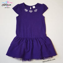 Load image into Gallery viewer, Gymboree Girls Purple Formal Dress Size 7 Used