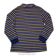 Load image into Gallery viewer, Hanna Andersson Blue Striped Boys Polo Shirt Used View 2