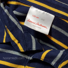 Load image into Gallery viewer, Hanna Andersson Blue Striped Boys Polo Shirt Used View 3