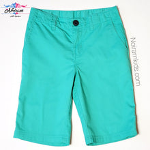 Load image into Gallery viewer, HM Boys Green Shorts Size 5 Used View 1