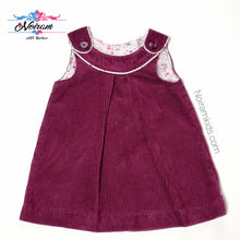 Load image into Gallery viewer, HM Plum Corduroy Girls Dress Used View 1