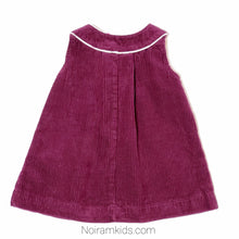 Load image into Gallery viewer, HM Plum Corduroy Girls Dress Used View 2
