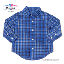 Load image into Gallery viewer, Janie Jack Blue Plaid Boys Shirt 12M NWT View 1