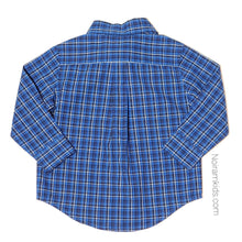 Load image into Gallery viewer, Janie Jack Blue Plaid Boys Shirt 12M NWT View 2