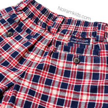 Load image into Gallery viewer, Janie Jack Baby Boys Red Blue Plaid Shorts Used View 3