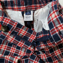Load image into Gallery viewer, Janie Jack Baby Boys Red Blue Plaid Shorts Used View 4