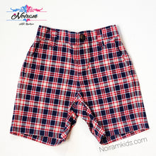 Load image into Gallery viewer, Janie Jack Baby Boys Red Blue Plaid Shorts Used View 1