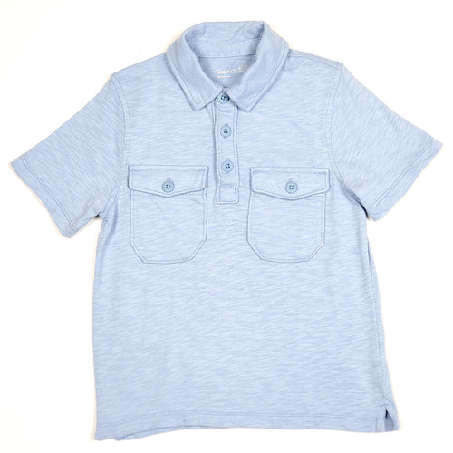 Gap Boys Light Blue Polo Shirt Size 6 Used View 1