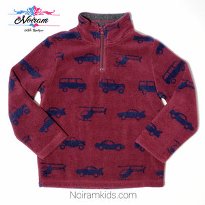 Childrens Place Maroon Boys Fleece Pullover 4T Used View 1