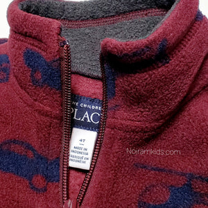 Childrens Place Maroon Boys Fleece Pullover 4T Used View 3