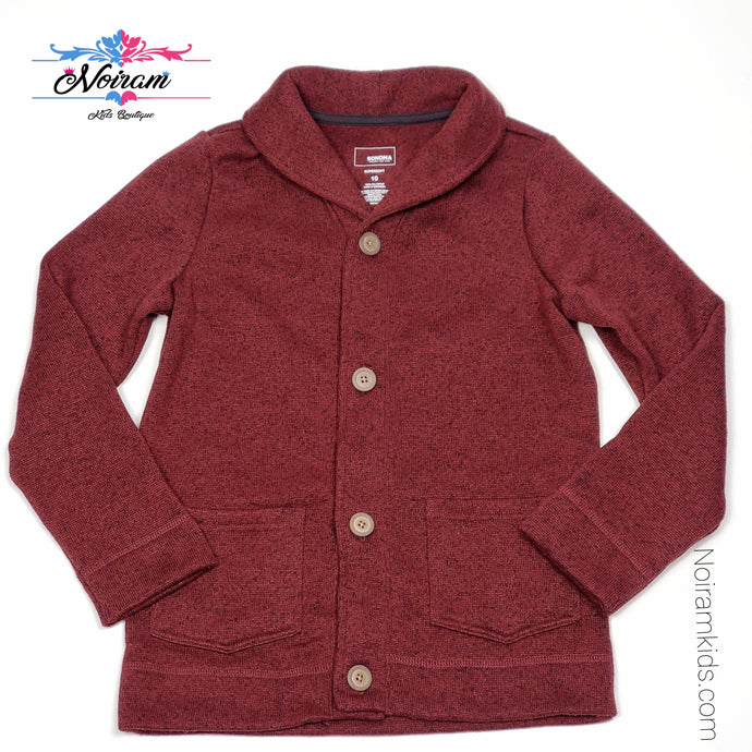 Sonoma Maroon Boys Cardigan Sweater Size 10 Used View 1