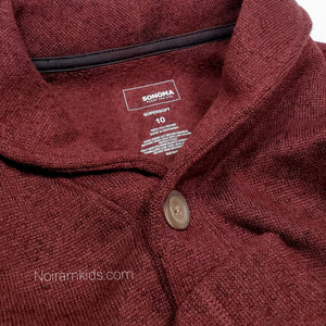 Sonoma Maroon Boys Cardigan Sweater Size 10 Used View 3