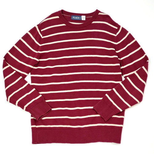 Childrens Place Maroon Striped Boys Sweater 10 Used View 1