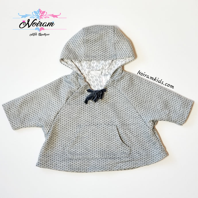 Max Studio Baby Girls Poncho Sweater Grey Used
