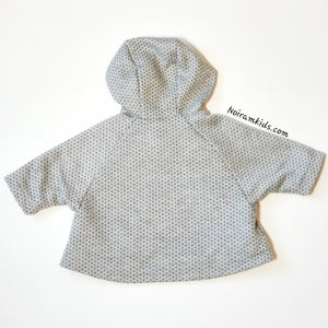 Max Studio Baby Girls Poncho Sweater Grey Used View 4