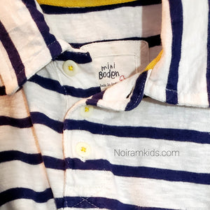 Mini Boden Boys Striped Polo Shirt Used View 2