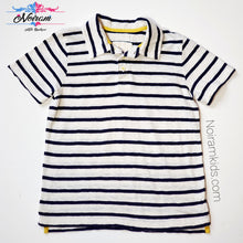 Load image into Gallery viewer, Mini Boden Boys Striped Polo Shirt Used