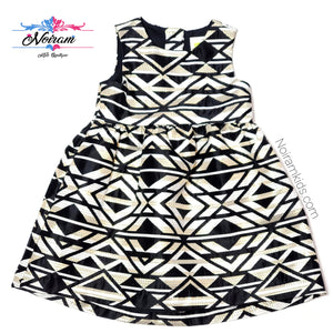 NWT Crazy 8 Black Gold Aztec Girls Dress View 1