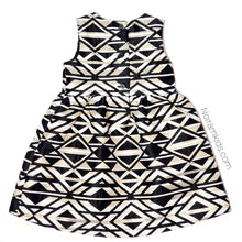 Load image into Gallery viewer, NWT Crazy 8 Black Gold Aztec Girls Dress View 2