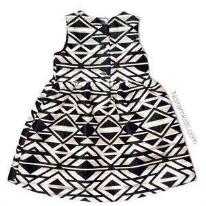 NWT Crazy 8 Black Gold Aztec Girls Dress View 2