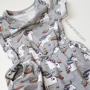 Okie Dokie Toddler Girls Unicorn Dress Used View 2