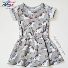 Load image into Gallery viewer, Okie Dokie Toddler Girls Unicorn Dress Used