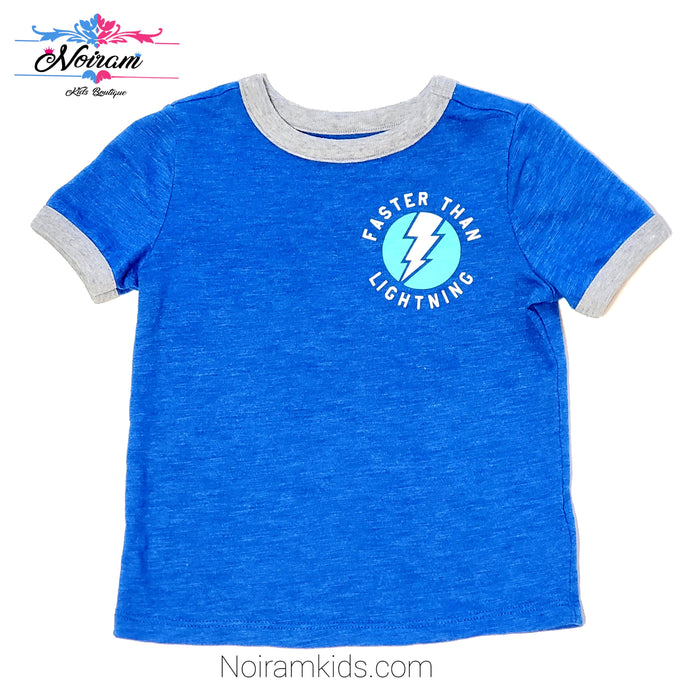 Old Navy Baby Boys Blue Lightning Graphic Tee Used View 1