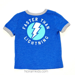 Old Navy Baby Boys Blue Lightning Graphic Tee Used View 2