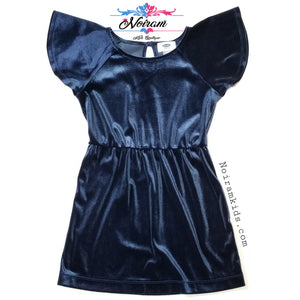 Old Navy Girls Blue Velvet Dress Size 5 Used