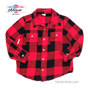 Old Navy Buffalo Plaid Flannel Boys Shirt 3T Used View 1