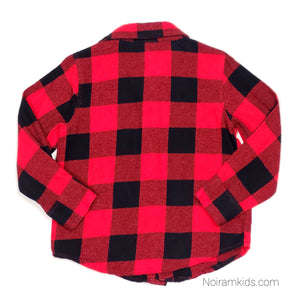 Old Navy Buffalo Plaid Flannel Boys Shirt 3T Used View 2