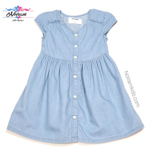 Old Navy Chambray Denim Girls Dress 2T Used View 1