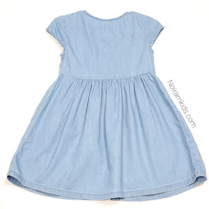 Old Navy Chambray Denim Girls Dress 2T Used View 2
