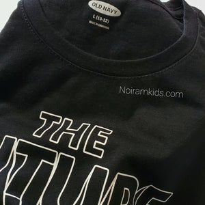 Old Navy Kids The Future Graphic Tee Black Used View 2