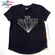 Load image into Gallery viewer, Old Navy Kids The Future Graphic Tee Black Used