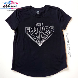 Old Navy Kids The Future Graphic Tee Black Used